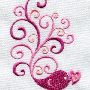 Love Bird & Snowdrop Flower Designs (January 2013 IEC Designs)