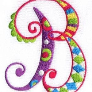 Zany Alphabet Designs - B