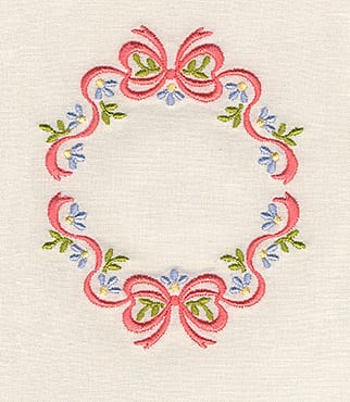 Cutwork Floral and Swirl Heart
