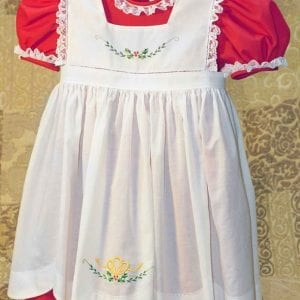 Holiday Dolly & Me Pinafore Dresses