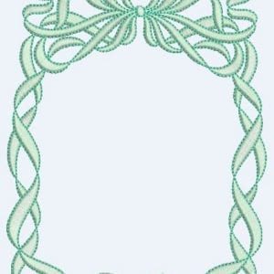 Twisted Ribbon & Bow Square Frame