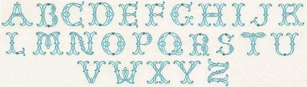 Celtic Alphabet - Applique