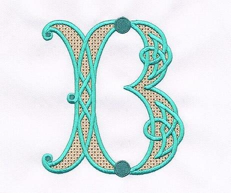 Celtic Alphabet - Wing-Needle Filled