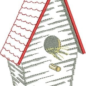 Adorable Bird and Coordinating Birdhouse