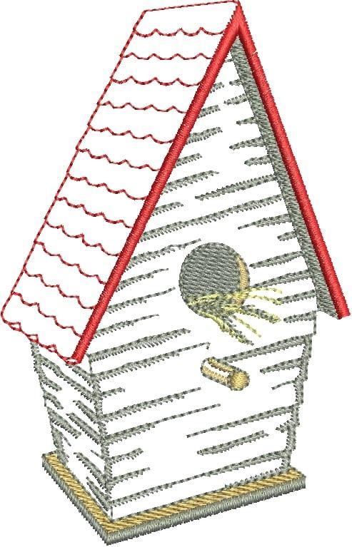 Adorable Bird and Coordinating Birdhouse