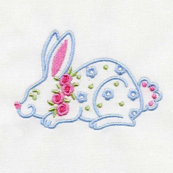 Bunny and Floral Medallion