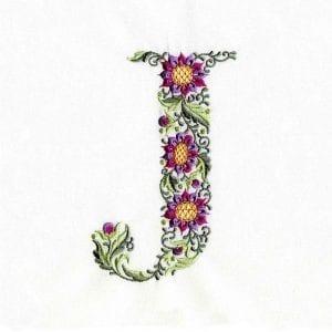Woodland Floral Alphabet