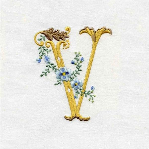 Fancy Floral Alphabet
