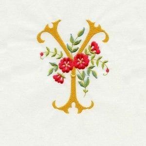Floral Scroll Alphabet