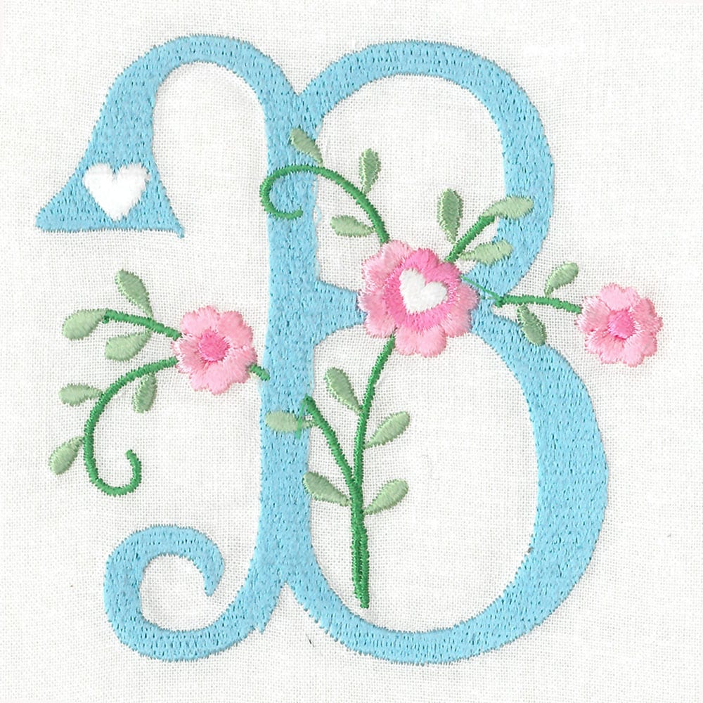 Sweetheart Alphabet Floral Version