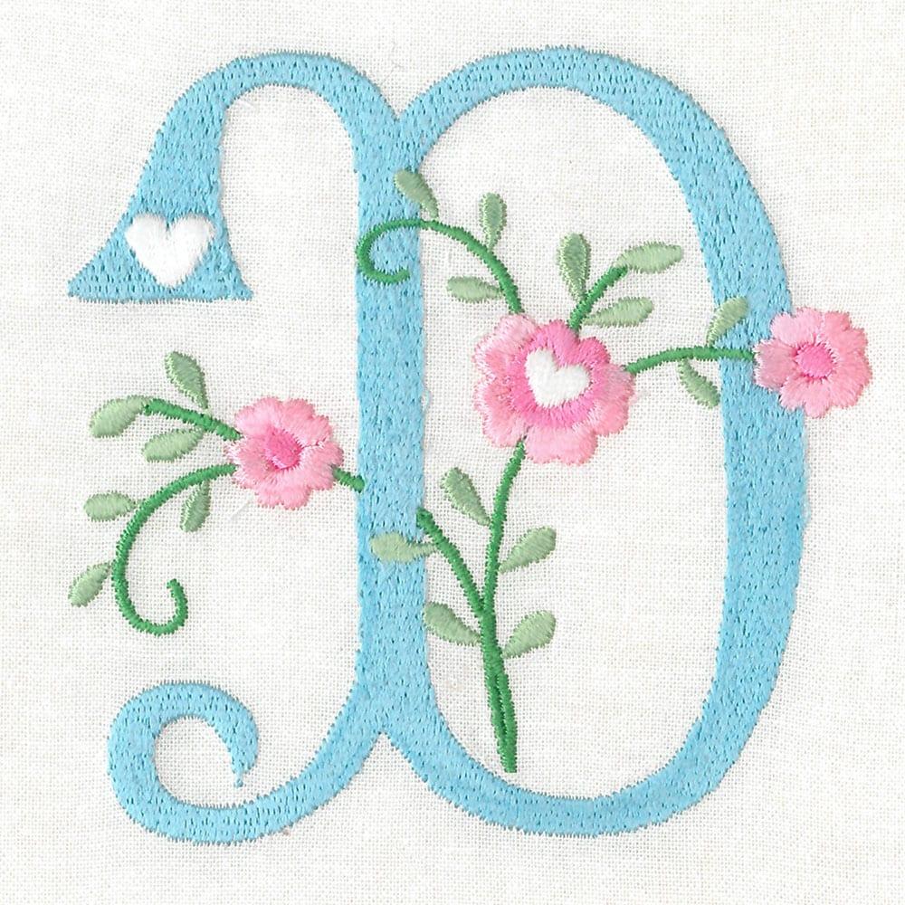 Sweetheart Alphabet Floral Version