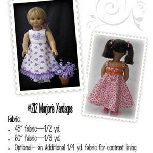 Marjorie Doll Dress - Digital Pattern