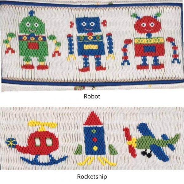 Robots and Rocketships Smocking Plates - Digital Pattern