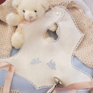 Fancy Ribbon Sash Baby Bibs - Digital Pattern