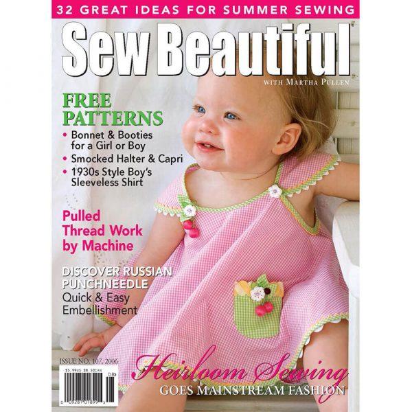 Sew Beautiful July/August 2006: Digital Issue #107