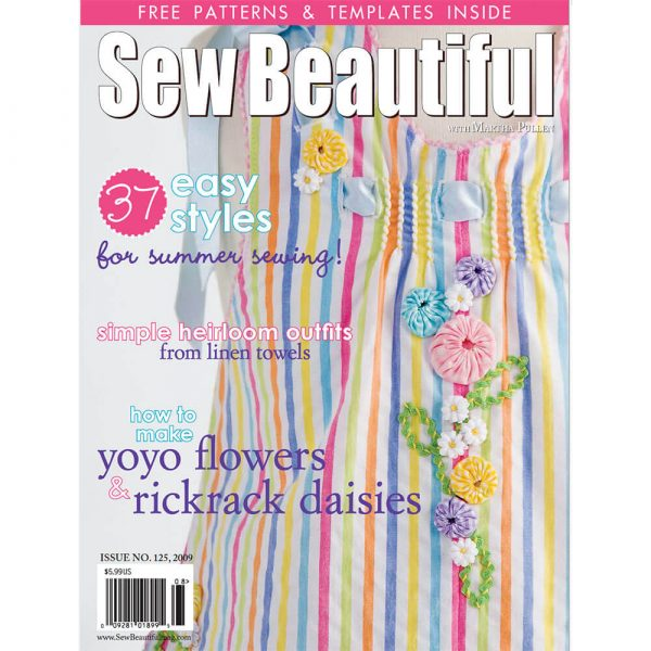 Sew Beautiful July/August 2009: Digital Issue #125
