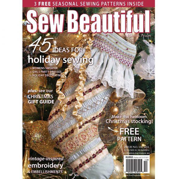 Sew Beautiful November/December 2011: Digital Issue #139