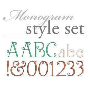 Simply Sweet Monogram Set