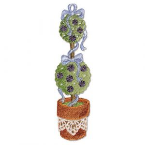 Lace & Ribbons Topiary Tree