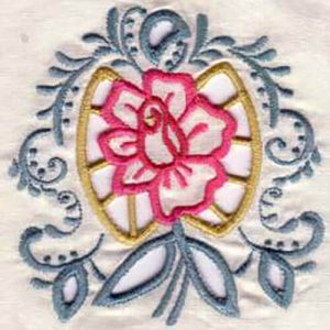 Cutwork Rose and Bouquet