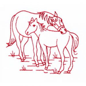Rose with Butterfly and Horse & Colt