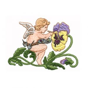 Painting Pansies and Garden Sprite
