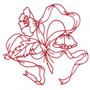 Flower with Ribbon and Swan I