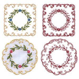 Delicate Square & Circle Coasters