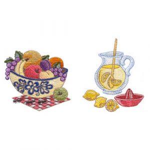 Summertime Fruit Bowl and Lemonade