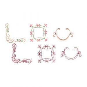 Rosebud Alphabet Accessories