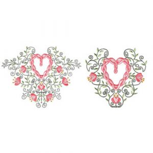 Twisted-Heart Floral 1 & 2