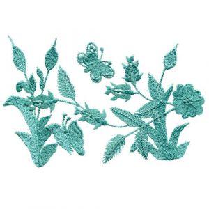Embroidered Wool Challis Dress 1 & 2