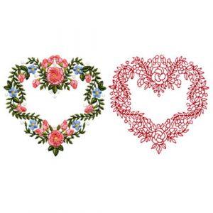 Floral Heart Wreath