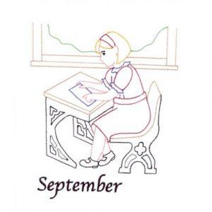 Back to School (September Old-Time Color-Line Quilt Design)