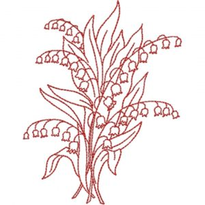 Lily of the Valley (Redwork Quilt Design)