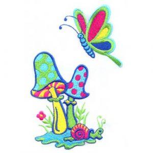 Mushrooms, Snails & Butterflies