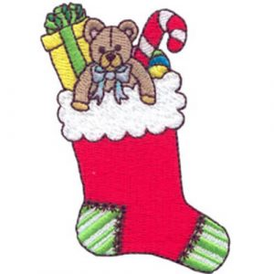 Peace Angel and Filled Christmas Stocking