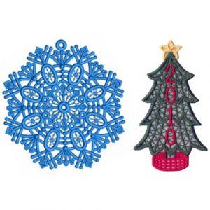 2010 Snowflake and Christmas Tree