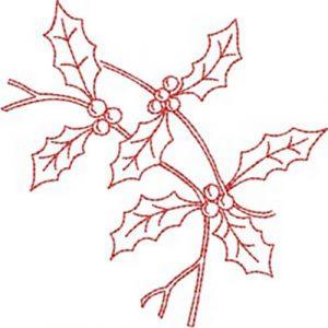 Twigs & Berries (Redwork Quilt Design)