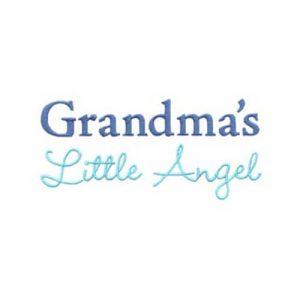 Angel Holding Infant and Grandma's Little Angel