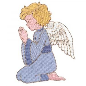 Praying Angel and Candle