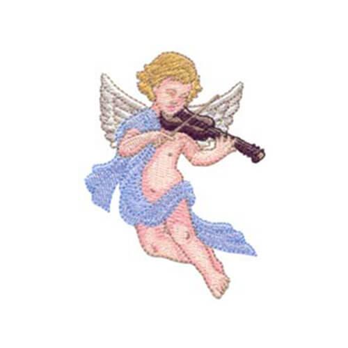 Young Angel Playing Violin and Angels Among Us