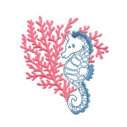 Seahorse and Peace Wreath