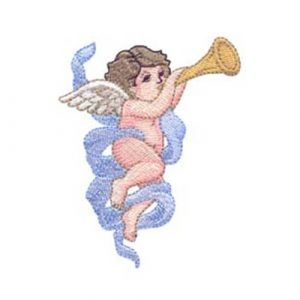 Angel 1 Playing Trumpet and Angels Charge Over You