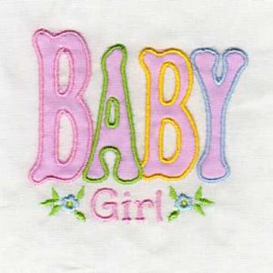 Applique Baby Girl and Baby Boy