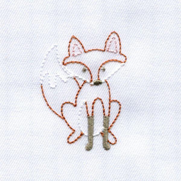Baby Hedgehog, Fox, Owl and Chick with Mushroom