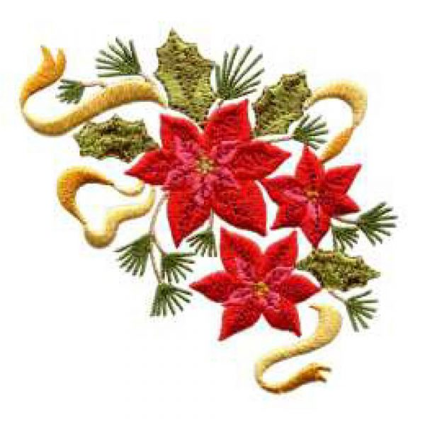 2012 Snowflakes and Poinsettia Arrangement