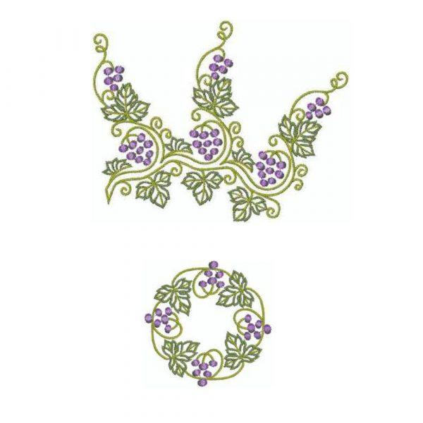 Grape Branch & Grape Wreath