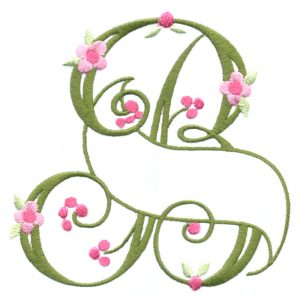 Floral Ribbon Alphabet & Letters