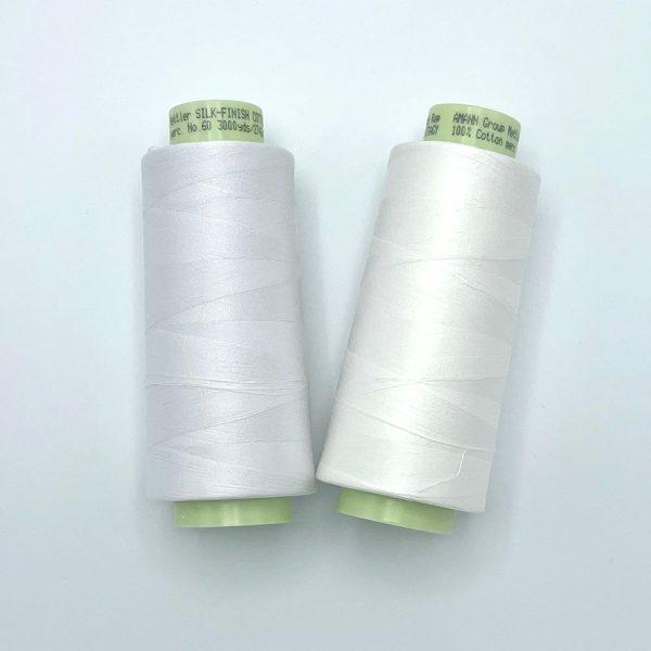 Mettler Silk Finish 60wt 3000yds White, Candlewich